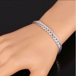 New 18K white gold plated bracelet